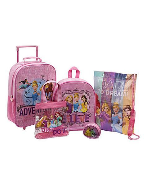 disney princess 5 piece luggage set fifty plus