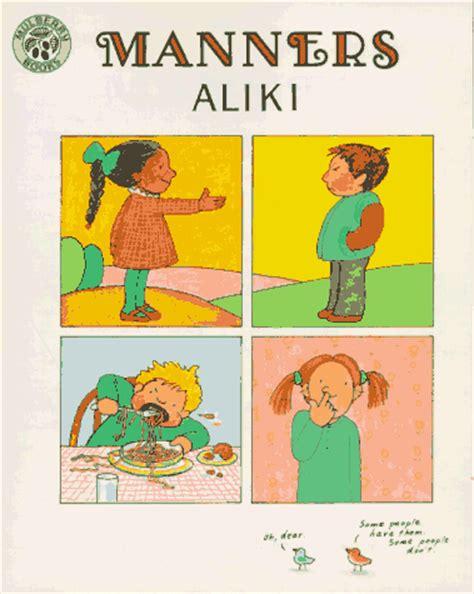 libro manners di aliki