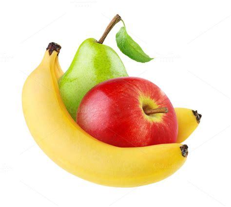apple and banana banana apple and pear isolated food drink photos on