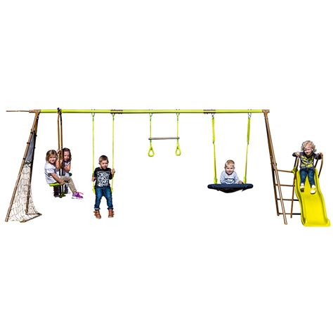 action swing action 7 station swing set view product action sports