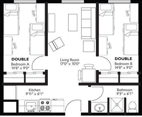 average small bedroom size standard room size square feet building code rules for an