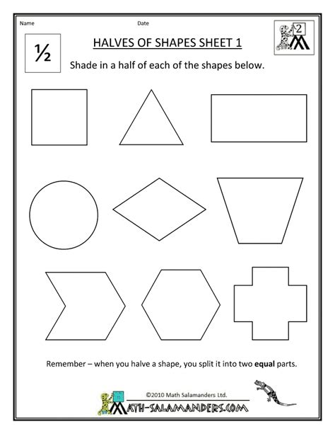Printable Math Worksheets Shapes | 2d shapes homework help