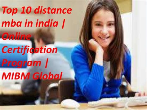 Eligibility For Mba Lecturer In India by Top 10 Distance Mba In India Certification Program Mba