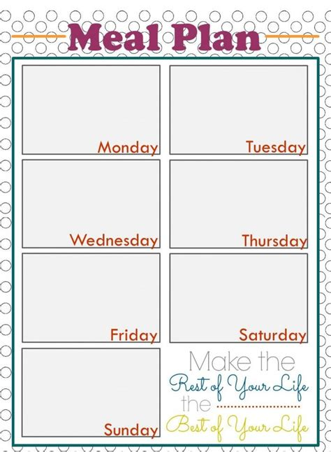 free printable meal and exercise planner weekly meal planning printables planners weekly meals