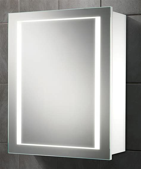 hib single door led illuminated bathroom cabinet