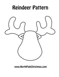 reindeer templates cut out reindeer pattern could cut out from felt foam paper leather pattern