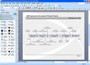 timeline template visio integrating visio 2007 and project 2007