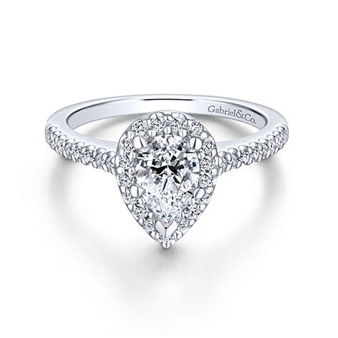 Pear Shaped Engagement Ring by Pear Shaped Engagement Rings Pear Cut Rings