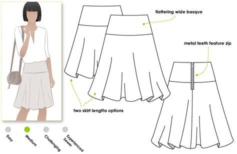 pattern review style arc stylearc gabriella skirt