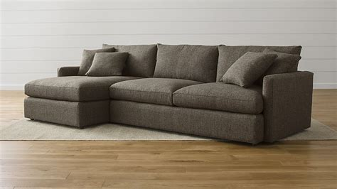Most Comfortable Sectional Sofas lounge ii grey chaise lounge sectional crate and barrel