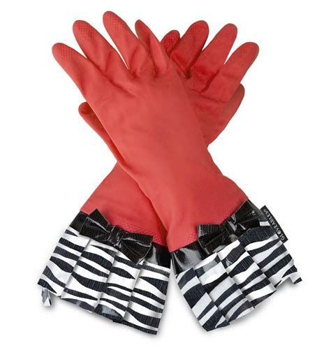 Model Kitchen Gloves Gloveables Grandway Rubber Cleaning Gloves Retro