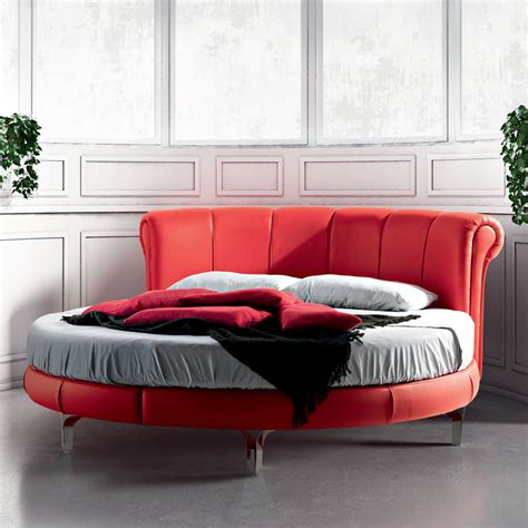 modern round bed modern round double bed rond 242 classic 216 220 cm handmade in italy
