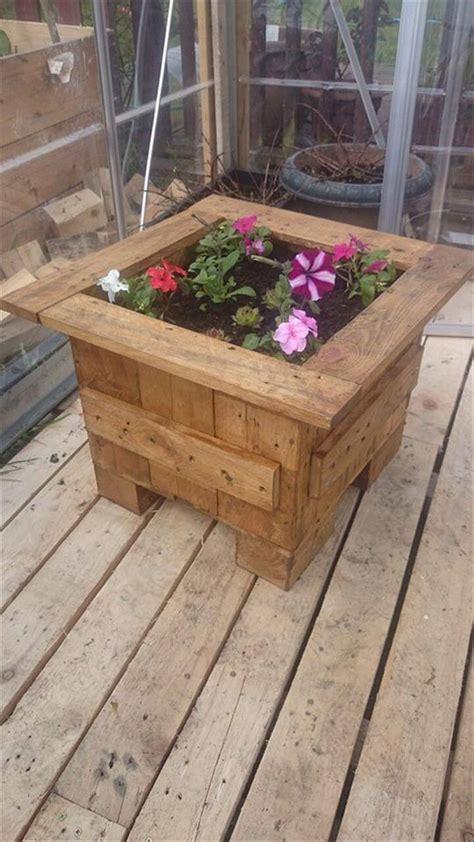 pallet planter box plans pallet flower planter box 99 pallets