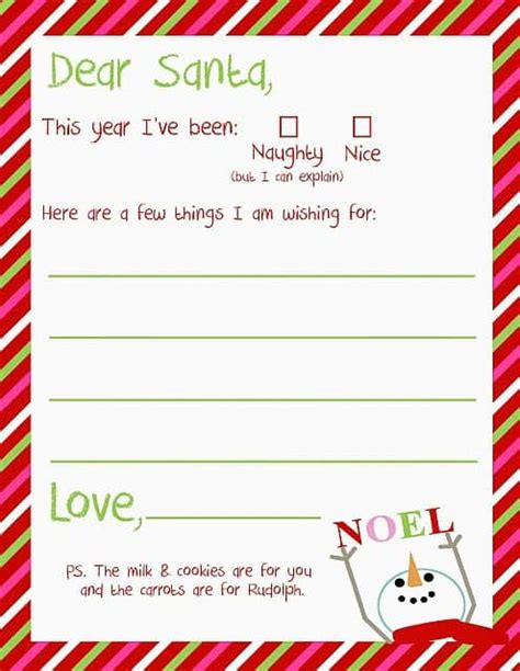 8 Free Printable Letters To Santa Free Dear Letter Template