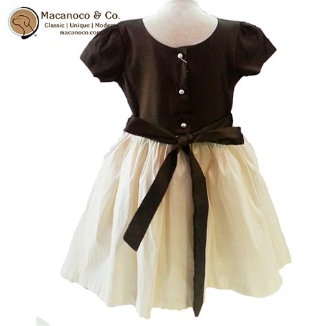 goldie brown couture girl s dress macanoco and co