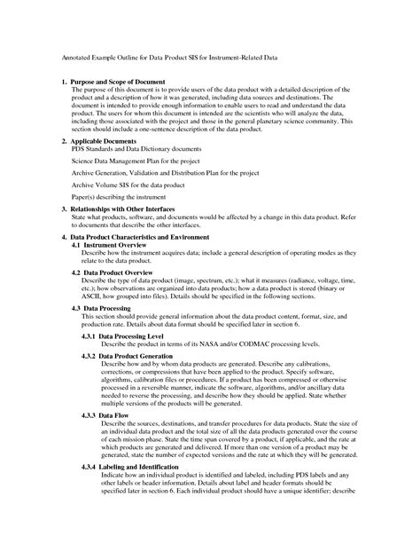 draft outline template best photos of apa draft outline template sle