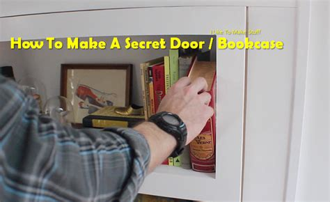 how do you make a door into a swinging bookcase video do you have your own hideouts great diy project