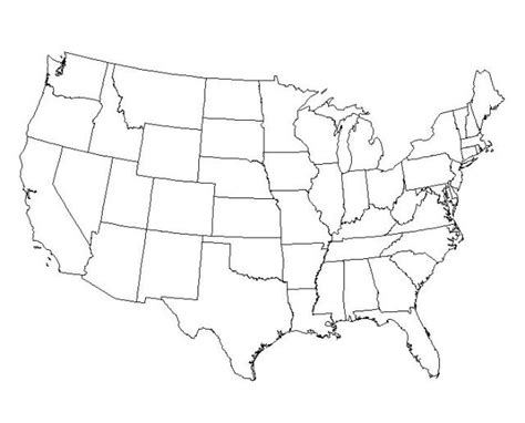 free blank outline maps of the united states of america