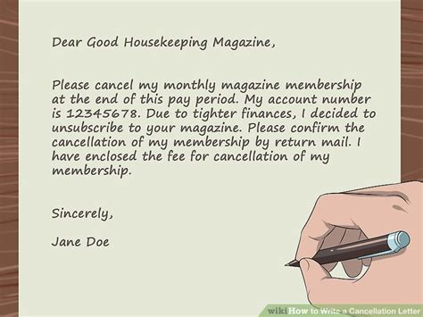 how to write a cancellation letter to your easy ways to write a cancellation letter wikihow