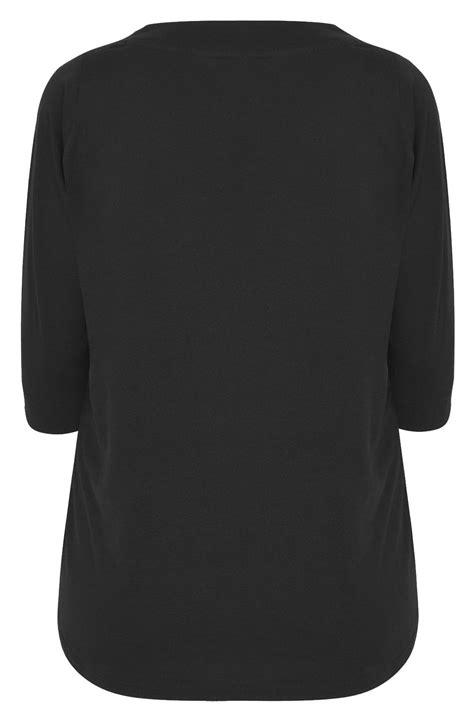 Tshirt Circle C3 t shirt manches 3 4 couleur noir taille 44 224 64