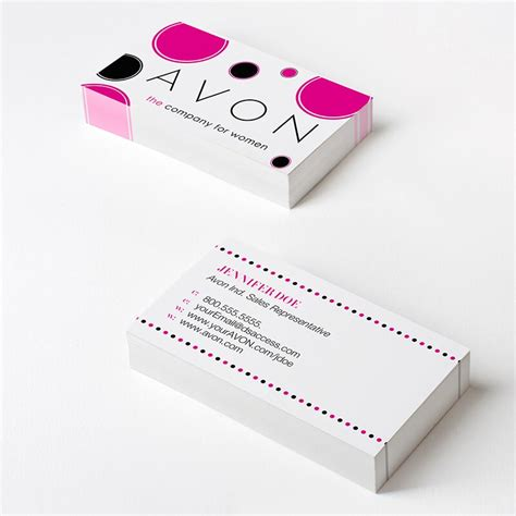 free avon business card template downloads avon dotty business cards show your personality