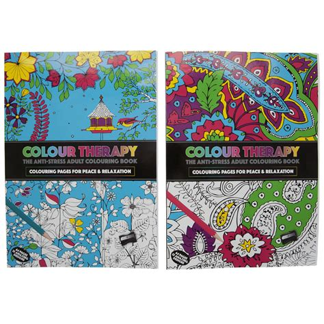 anti stress colouring book with pencils new anti stress colour therapy colouring books pencils set
