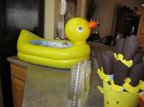 blow up bathtub baby 23 best images about baby shower on pinterest rubber duck centerpieces jar games