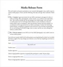 sample media release form 6 download free documents in