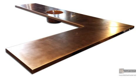 hammered copper bar top home bar with copper top and hammered sink riverside usa
