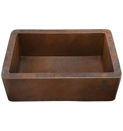 Kitchen Copper Sink Toscana Hammered Copper Sink