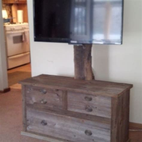 Made Stand crafted barn wood tv stand by rats wood creations