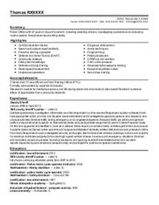 officer resume exle nypd new york