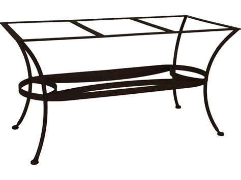 Ow Lee Wrought Iron Rectangular Dining Table Base Dt07 Base Patio Table Bases