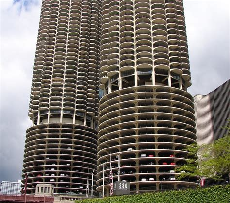 Parking Garages Chicago by Panoramio Photo Of Marine City With Circular Parking