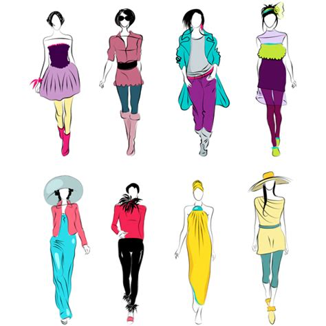 design elements in fashion vector fashion girls design elements 01 free download
