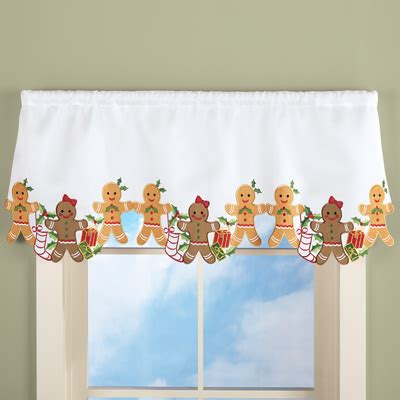 Gingerbread Kitchen Curtains Gingerbread Curtain Valance From Collections Etc