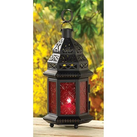 glass moroccan lantern home decor candlelight candle