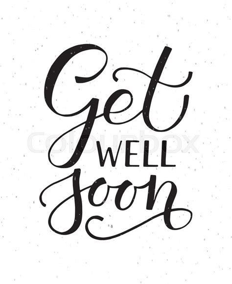get well soon card template black and white sketched inspirational quote get well soon