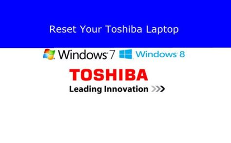 how to reset a toshiba laptop back to factory settings