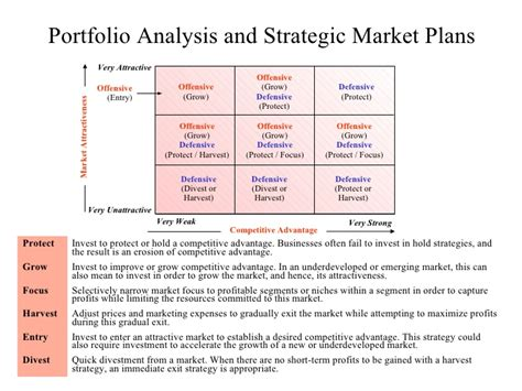 portfolio analysis template portfolio analysis business diagram
