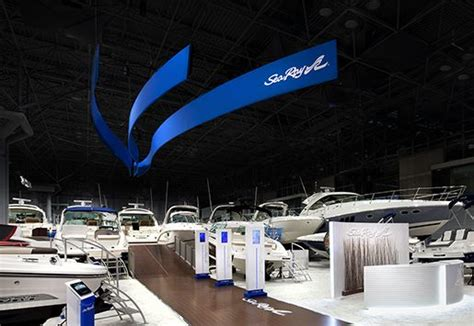 nyc boat show 2017 sea ray trade show exhibition booth custom designed by ige