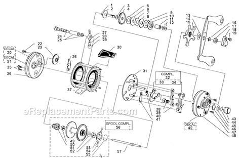 abu garcia reel parts diagram abu garcia 5500 c3 parts list and diagram 99 08