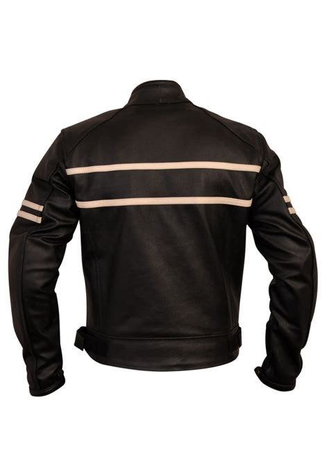 cruiser motorcycle jackets s black stripped cruiser leather motorcycle jacket