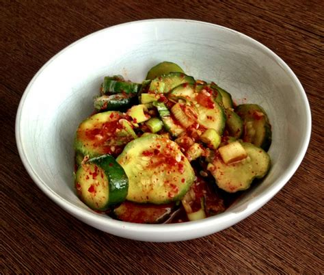 korean quick spicy pickle on the sunny side of the egg
