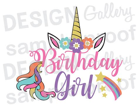 imagenes happy birthday daddy cumplea 241 os chica unicornio jpg png y svg corte dxf
