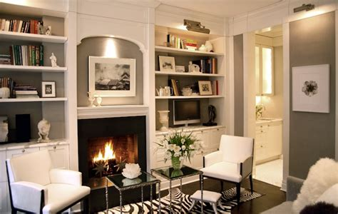 Built In Shelves Around Fireplace by Fireplace Built Ins Transitional Living Room Paul