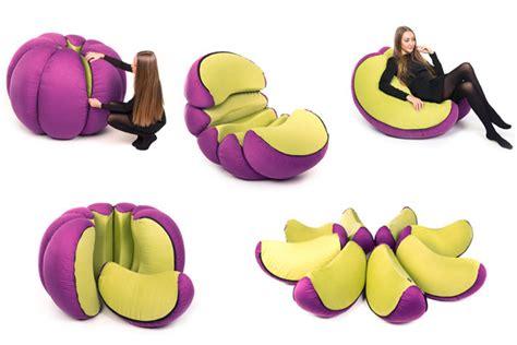 Simple Gardens fruit inspired furniture mandarin pouf home design