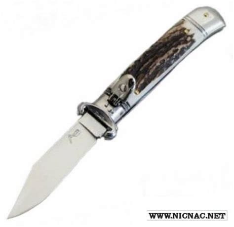 knife on sale italian shell puller stag automatic knife