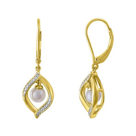 cultured freshwater pearl 14k yellow gold sterling