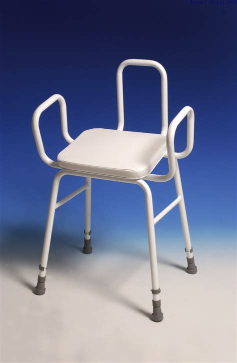 Perching Stool With Back And Arms by Perching Stool Adj Height With Arms And Back Ddc Mobility